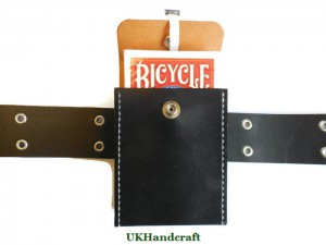 Handmade Leather Playing Card Case with Belt Loop